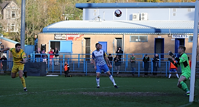 Second-half action - Craig Lindfield header slams off the bar (1)