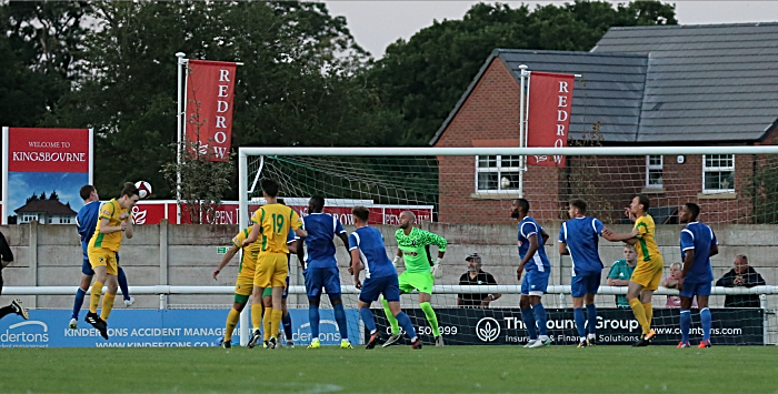 Second-half action - Nantwich goal - header from Jack Higginbotham (1)