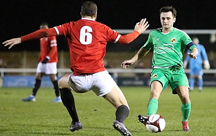 Second-half - captain Caspar Hughes on the attack (1)