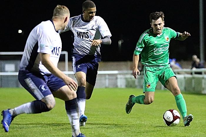 Second-half - captain Caspar Hughes on the ball (1)