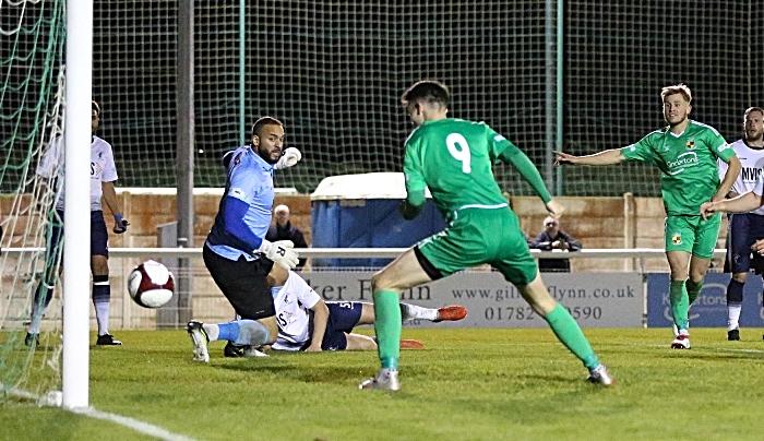 Second-half - first Nantwich Town goal - Joe Malkin scores after a driving run from David Webb (1)