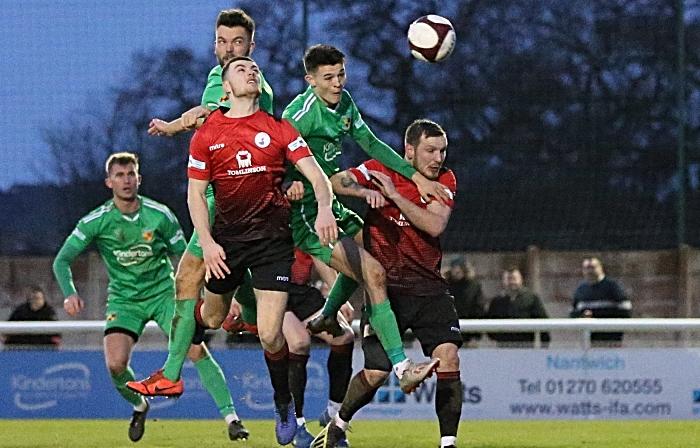 Second-half - first Nantwich goal - Joe Davis header (1)