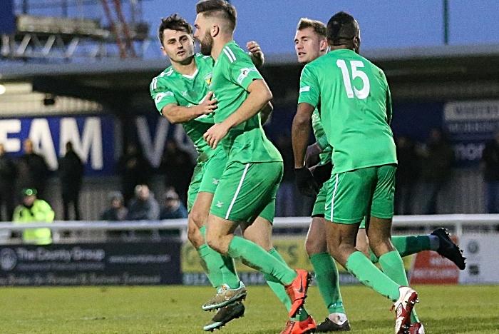 Second-half - first Nantwich goal - Joe Davis header (2) (1)