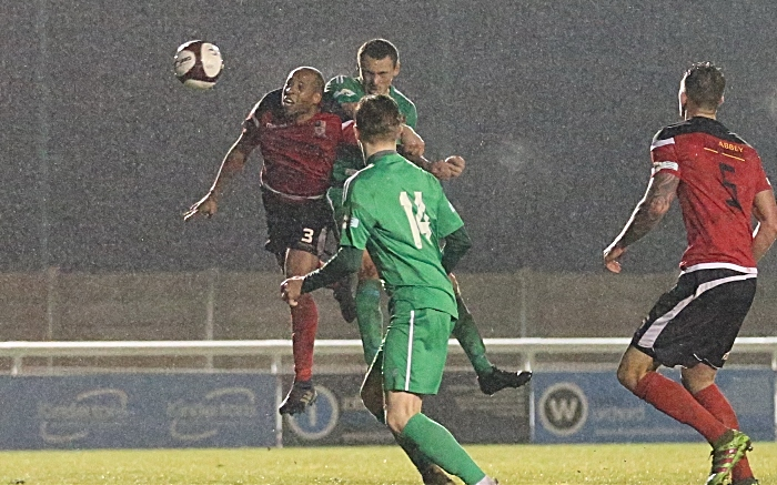 Second-half - first Nantwich goal - Joel Stair heads in to equalise during stoppage time (1)