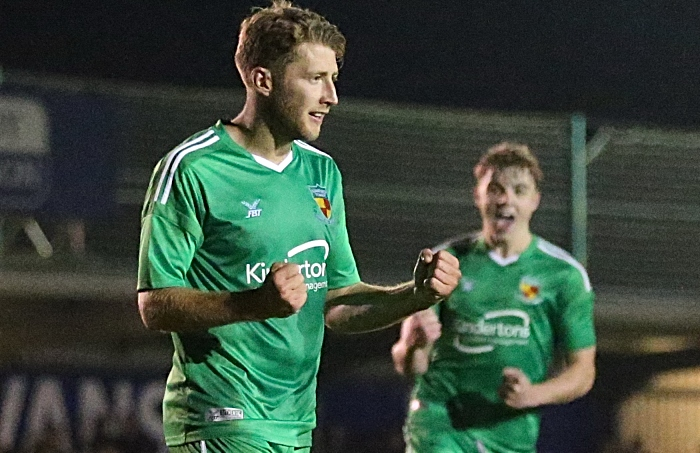 Second-half - first Nantwich goal - penalty - James Lawrie celebrates (1)
