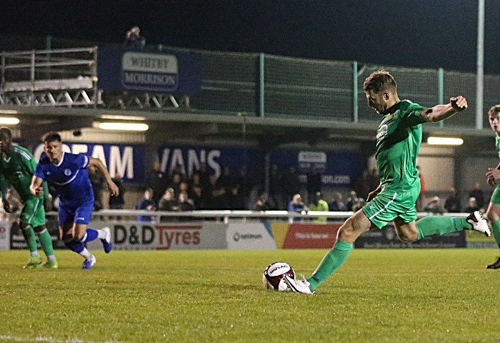 Second-half - first Nantwich goal - penalty - James Lawrie converts from the spot (1)