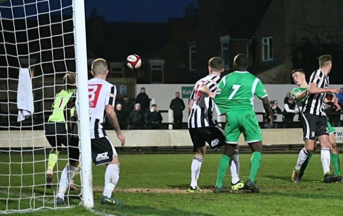 Second-half - fourth Nantwich Town goal - Toby Mullarkey (1)
