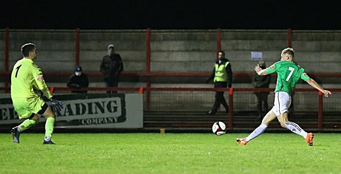 Second-half - fourth Nantwich goal - David Webb beats the keeper (1)