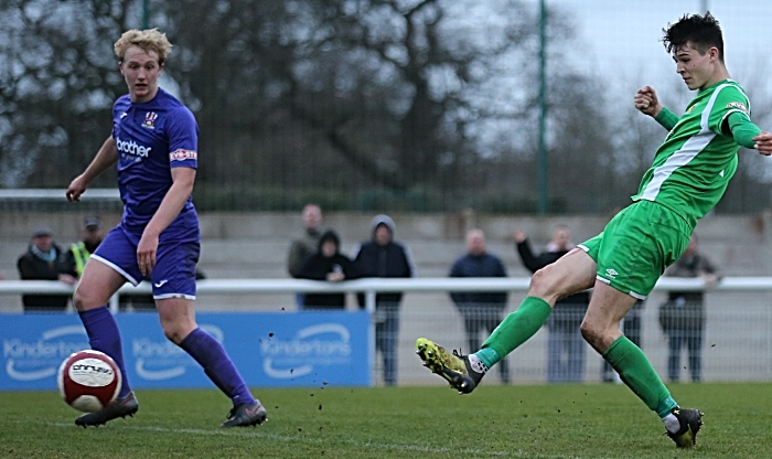 Second-half - fourth Nantwich goal - a second goal for Joe Malkin (1)