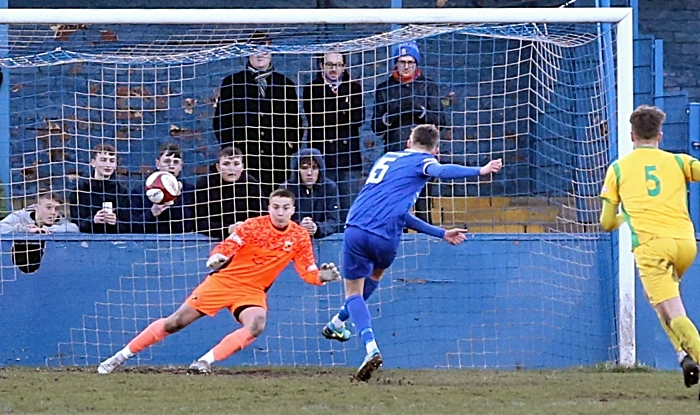 Second-half - second Farsley Celtic goal - penalty from Ben Atkinson