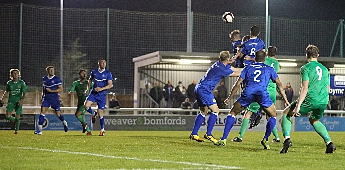 Joel Stair rises to head in the winner against Buxton