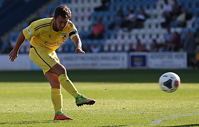 Second-half - third Nantwich Town goal - Caspar Hughes scores (1)