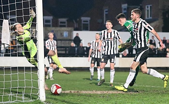 Second-half - third Nantwich Town goal - Joe Malkin second goal (1)