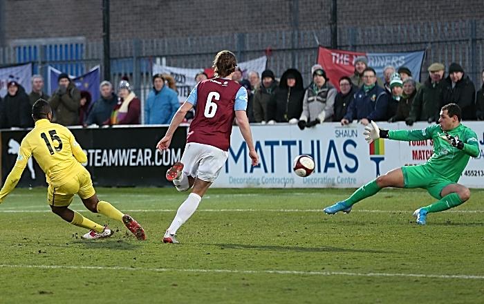 Second-half - third Nantwich Town goal - Ricardo Fuller (1)