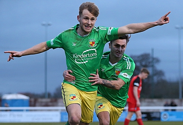 Second-half - third Nantwich Town winning goal - David Webb celebrates his goal (1) (1)