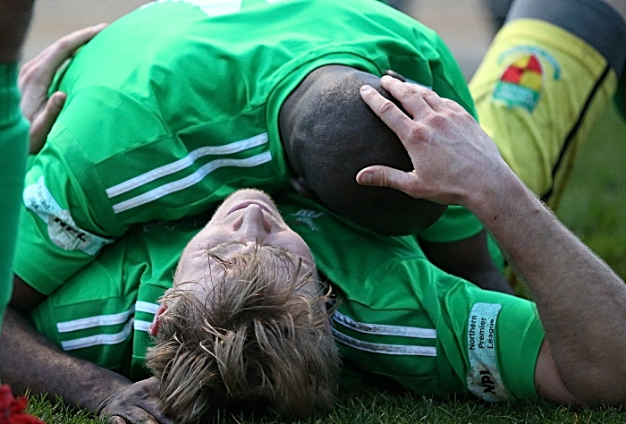 Second-half - third Nantwich Town winning goal - David Webb celebrates his goal (2) (1)