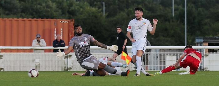 Second-half - third Nantwich goal - Callum Saunders (1)