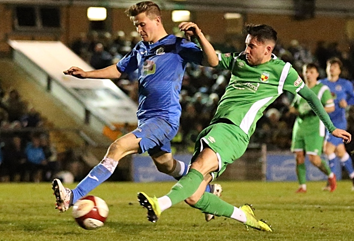 Second-half - third Nantwich goal - Callum Saunders scores on the run (1)