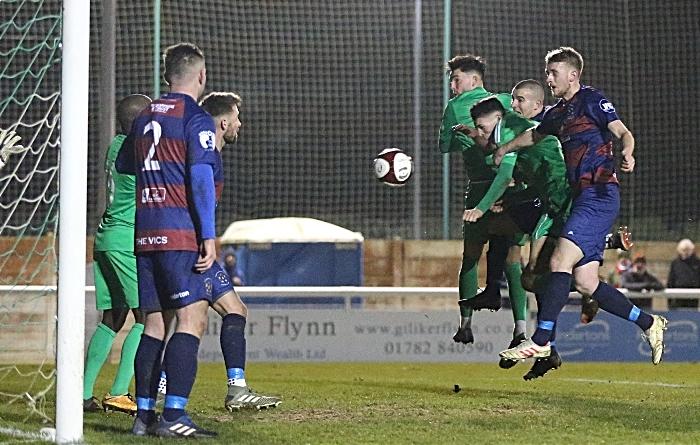 Second-half - third Nantwich goal - Joe Malkin rises to power it home (1)