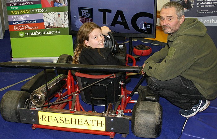 careers - Shannon Hughes has her first driving lesson with the help of Rob Antrobus from the Reaseheath Motor Vehicle Department