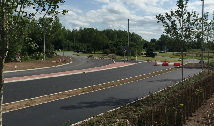 Shavington A500 junction road linking to Gresty Road