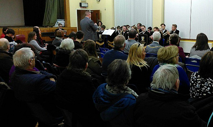 choirs - Shavington Academy Music Ensemble led by John Clarke - photo by Andrea Ollerhead