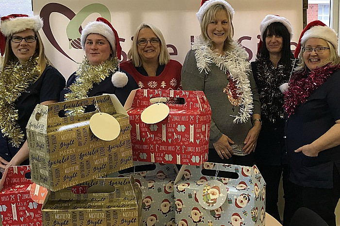 Side by Side Care staff get into Christmas spirt ahead of Weston Lights Switch-On