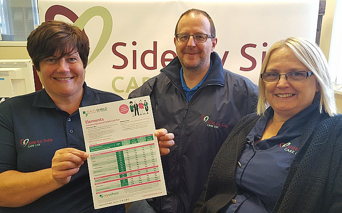 Side by Side Care staff with Health Shield plan