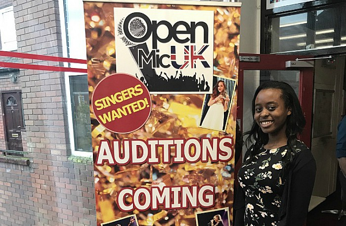 Sinead at open mic uk auditions