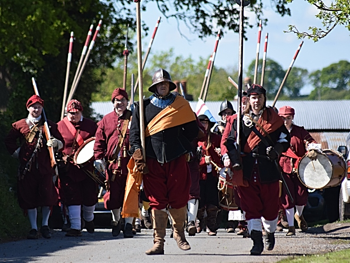 Sir George Lisles Regiment of Foote and friends march to Marbury Merry Days (1)