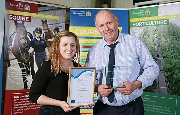 apprentices - Small employer of the yr Grants Butchers, owner John Major, apprentice Lucy Rowlinson (1)