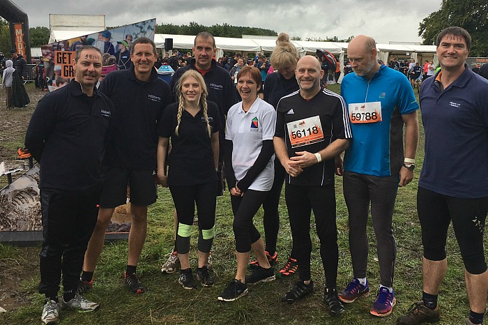 Some of the Hibberts solicitors team before they got muddy