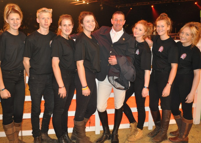Sophia Cunningham, Jack Wormald, Lily Cargill, Elle Germany, Danni Parker, Sophie Carolan and Claudia Owler with Guy Williams