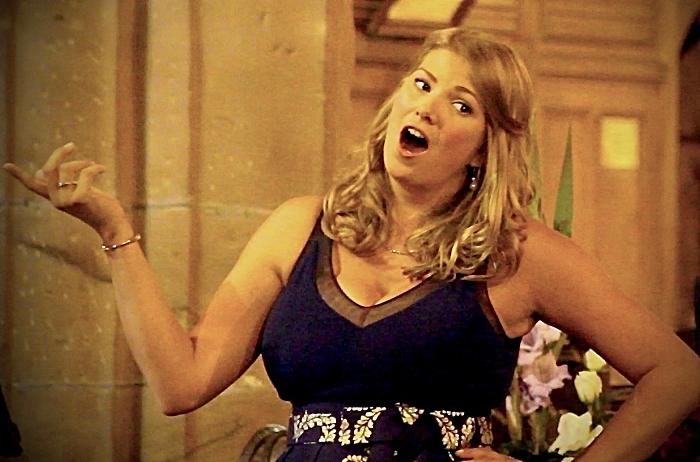 Soprano Jessica Thayer performs at the concert