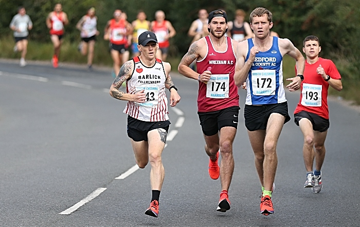 South Cheshire 20 2019 - leaders shortly after the start of the race from Shavington Sports Centre (1)