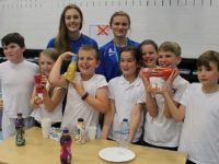 College students help Nantwich youngsters boost health awareness