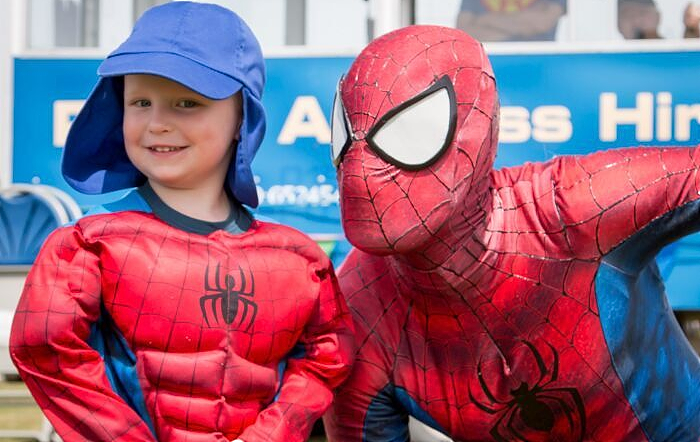 Spiderman at Bunbury Village Day