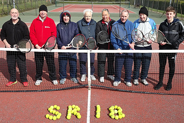 tennis - Sport Relief 2018 participants pose on court