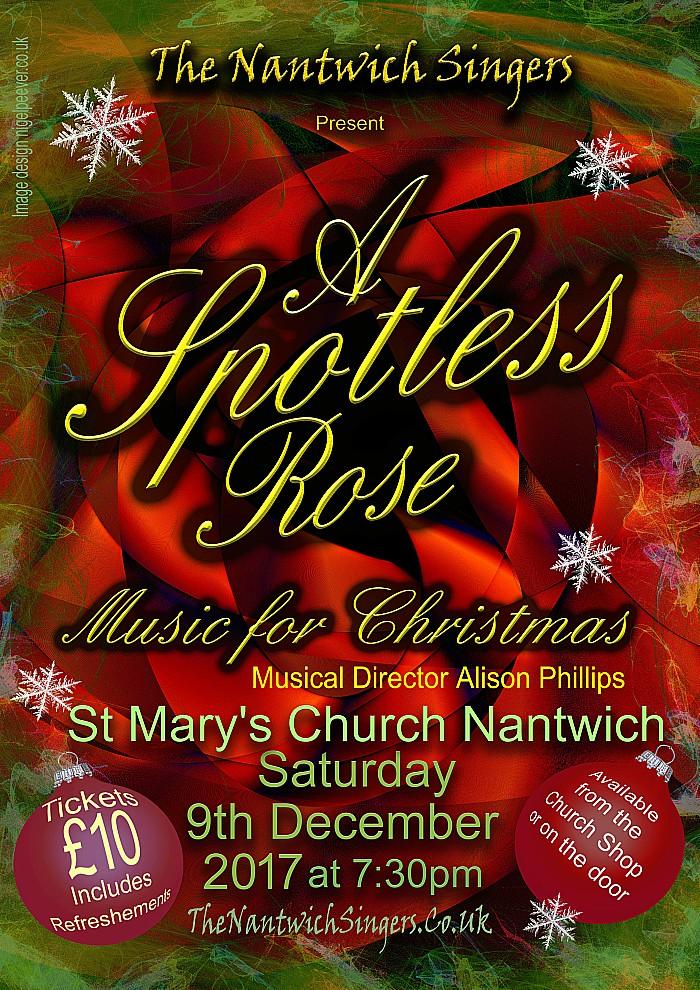 Spotless rose, nantwich Singers Christmas carols