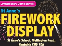 St Anne's School to stage Fireworks Night in Nantwich