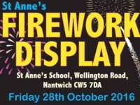 St Anne's School Nantwich to stage Blitz Fireworks display