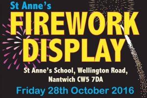 St Anne's School Nantwich to stage Blitz Fireworks display