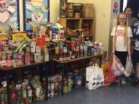 Nantwich youngsters collect essential items for Foodbank