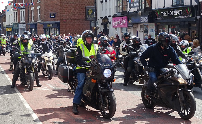 motorcycle club - St Lukes Cheshire Hospice Charity Ride – arrival on High Street (2)