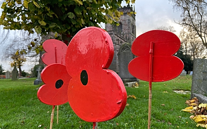 St Mary's Church Acton - Poppy display