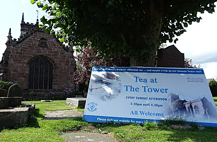 St Mary's Church, Acton - Tea at The Tower banner (1)