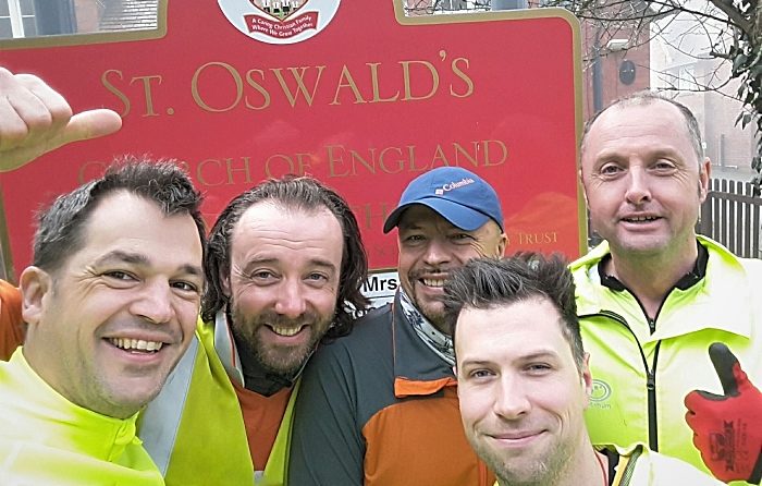 St Oswalds dads - run for heidi