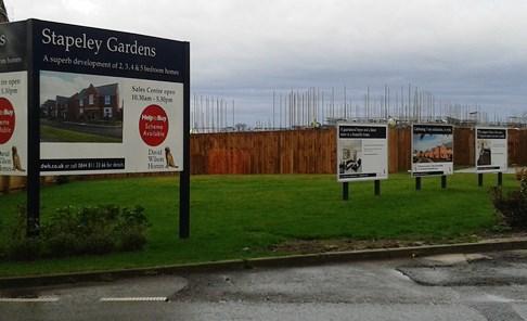 Stapeley Gardens housing development