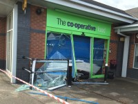 Ram raiders drag cashpoint machine through Nantwich shop window