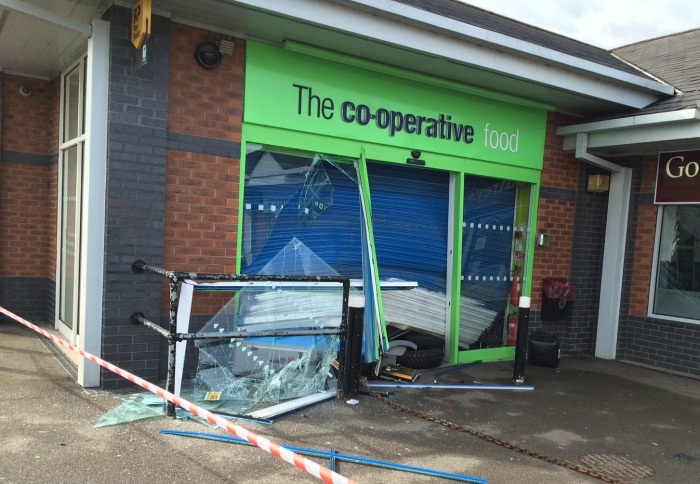 Stapeley co-operative store cashpoint raid
